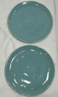 (Set of 2) Primagera Turquoise Portugal Round Dinner Plate(s) - 11""