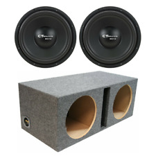 """CT Sounds Dual Bio 1.0 12"""" Subwoofer Bass Package W/ Ported Box"""
