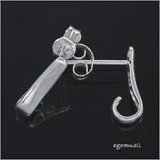 Sterling Silver Stud Post J Hook Earring Connector #51828