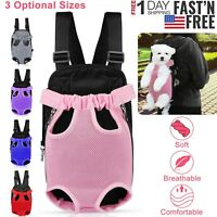 Mesh Pet Puppy Dog Cat Carrier Backpack Head Legs Out Front Net Bag Tote Sling