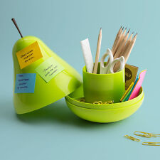 Pear Pod Container by Qualy Green Pear Office Desk Organizer