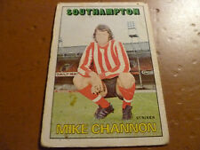 A&bc chewing-gum Football Card 1972/73 rouge orange dos Mike Channon Southampton