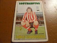 A & A.C. Chicle Fútbol Tarjeta 1972/73 Rojo Naranja back Mike Channon Southampton