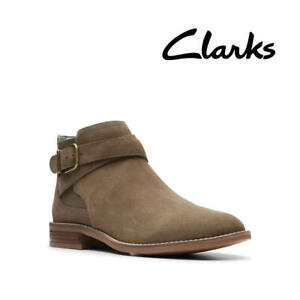 Clarks Camzin Hale Taupe Suede Women's Ankle Boots UK Size 5D