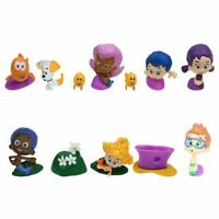 12Pcs Bubble Guppies Figures Toys Decoration Kids Gift Collection Cake Topper