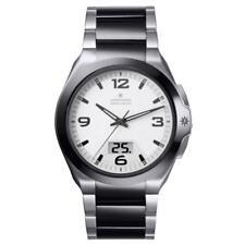 Armbanduhr Junghans spektrum mega solar 018/1423.44 Solar Stahl Zifferblatt Weiß