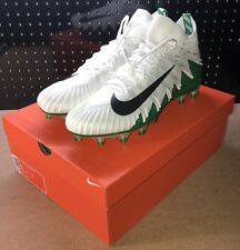 Nike Alpha Menace Elite Football Cleats White Green Men's Size 15 877141-103