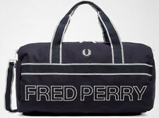 FRED PERRY 2018 Sports Canvas Barrel Bag Navy Gym LAPTOP Work Travel Backpack