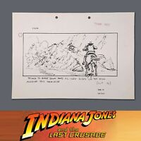 INDIANA JONES & THE LAST CRUSADE - Production Used Storyboard, Indy on Horse