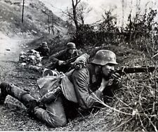 "German Soldiers returning fire in battle 8""x 10"" World War II Photo Picture #16"