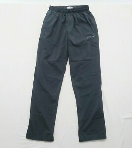 Reebok Athletic Pants Women's Medium Gray Polyester Elastic Drawstring Waist Win