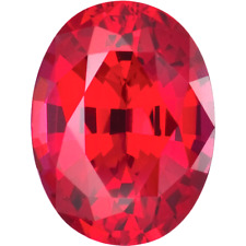 Lab Created Bright Red Ruby AAA+ Oval Loose Gemstone (4x3mm - 30x20mm)