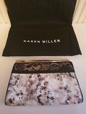 Karen Millen Print And Lace Floral Design Clutch Bag