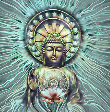 Jade Om Aum Yoga Buddha Chakra Meditation India Zen Canvas Print