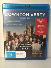 DOWNTON ABBEY ~ SEASON 1 ONE ~ 2 DISC BLU-RAY SET ~ BONUS DVD ~ HUGE 362 MINS