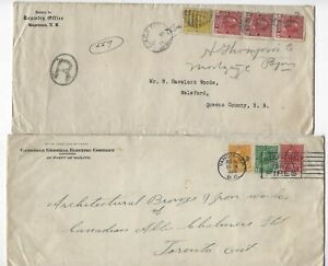 CANADA - KING GEORGE V ADMIRAL COVERS