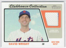 DAVID WRIGHT 2015 TOPPS HERITAGE CLUBHOUSE COLLECTION JERSEY RELIC METS
