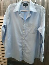 Tommy Hilfiger Men's Long Sleeved Blue Cotton Shirt. Size M