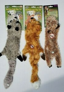 As Seen On TV* Stuffing-Free Crazy Critters Squeaking Dog Toys (Set of 3)