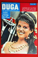 CLAUDIA CARDINALE ON FRONT COVER 1962 RARE EXYUGO MAGAZINE