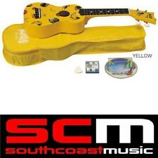 MAHALO PINEAPPLE YELLOW SOPRANO UKULELE BRAND NEW w UKE GIG BAG REAL INSTRUMENT