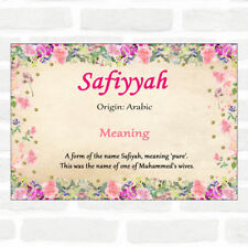 Safiyyah Name Meaning Floral Certificate