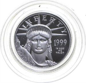1999-W $10 1/10 Oz. Platinum Eagle Proof Southern Wetlands US Platinum Coin *072