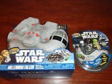 Star Wars Mighty Beanz Millennium Falcon Case w/ Han Chewy Plus 4 Pack w/ Yoda