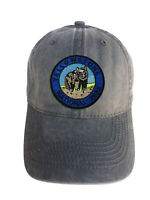 Yellowstone Park Blue Adjustable Curved Bill Strap Back Dad Hat Baseball Cap