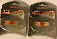 Lot Of 2 Rockford Fosgate Cap Quick-Connect 4 Gauge Gold Plated Rp7452
