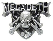 Biker Megadeth Motorhead Rock Iron Skull Belt Buckle Mens Silver Punk Western
