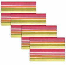 Woven Dining PVC Placemats Set of 4 (Pink & Gold)