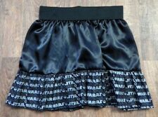 Handmade Retro Black Satin Star Wars Skirt UK Size 16-20