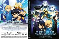 Sword Art Online: Alicization (Season 3) ~ 2-DVD SET ~ English Dubbed Version ~