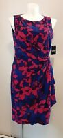 Floral Women Dress Red, Blue And Black, Size 16 .coctail .AMERICAN LIVING .