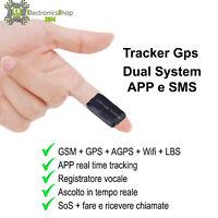 LOCALIZZATORE SATELLITARE MINI GPS TRACKER REGISTRATORE VOCALE SPY GSM GPRS AUTO