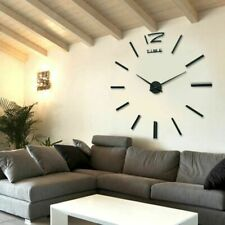 Clock Wall 3D Large Decor Mirror Modern Sticker Watch Home Big Unique Art Office