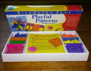 Discovery Toys PLAYFUL PATTERNS Design Activity Colors Geometric Shapes 1996