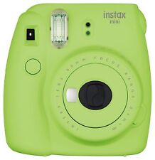 Fujifilm Instax Mini 9 Instant Polaroid Camera with Flashing LED Lime Green New