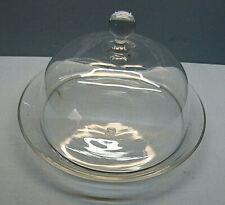 Glas Glocke BABETTE 1-teilig Glas Haube Höhe 21 cm Glasglocke Durchmesser 14 cm