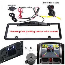 Car License Plate Frame Parking Sensor Radar Rearview Backup Camera Night Vision