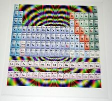 Periodical Table Chart of Elements Blotter Art psychedelic Chemistry acid art