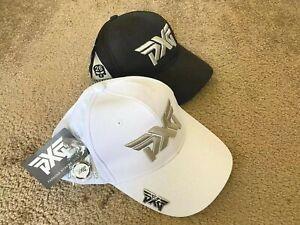 PXG Golf Hat Golf Baseball Cap Black White Adjustable