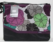 Thermos Insulated 18 Can Black Flower Tote Cooler 15x12x6 NWT