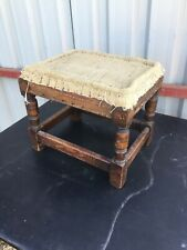 Vintage Deconstructed Traditional Foot Stool Upholstery Needs Finishing 1/6/W/LB
