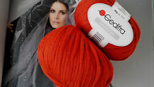 700 g SHANINA GEDIFRA Schachenmayr WOLLE Cape Loop Winter Ziegel Rot TOP TREND