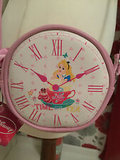 NEW DISNEY 'ALICE AND WONDERLAND' PALE PINK 'TIME FOR TEA' SMALL CROSS BODY BAG