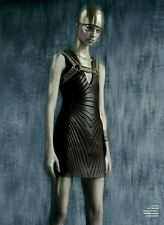 *TOM FORD* Runway BLACK Stretch Leather Mini Dress TODIE4! NWT IT 44-US 8