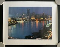 Pittsburgh By Night Vintage Print by Dale Gleason