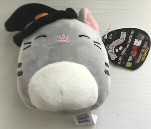 """SUPER RARE Squishmallow Tally the Witch Cat 4.5"""" Mini Plush Brand New"""